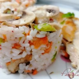 Ensalada de arroz con verduras con Thermomix