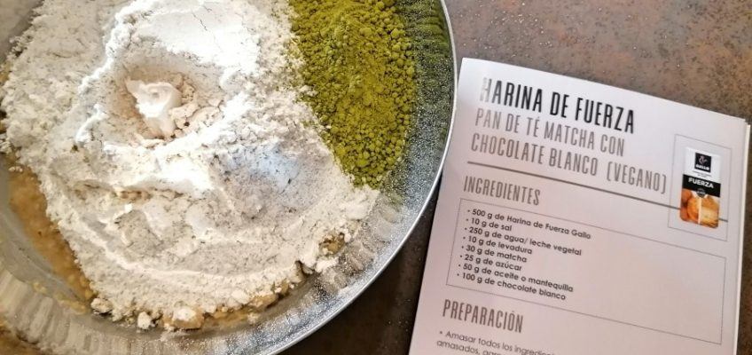 Entreharinas - Daniel Jordá & Pastas gallo masa té matcha
