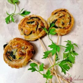 Piruletas de espinacas, queso y jamón serrano PaZladeando