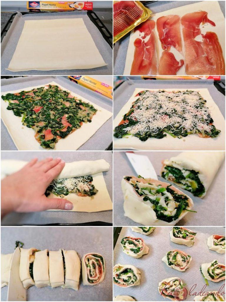 Piruletas de espinacas, queso y jamón serrano paso a paso (2)