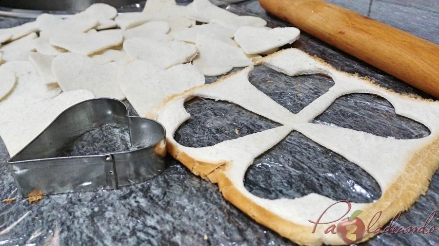 Galletas crujientes de pan de molde paso
