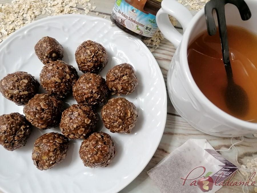 Bolitas de chocolate, avena y chia Pazladeando