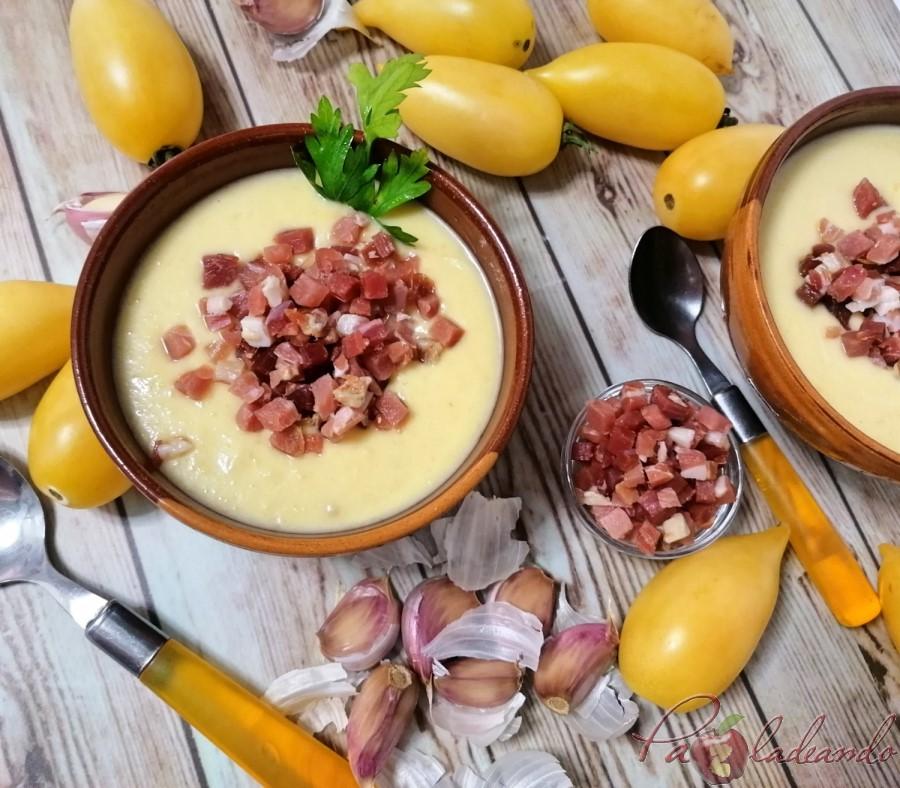 Salmorejo Cordobés de tomate amarillo